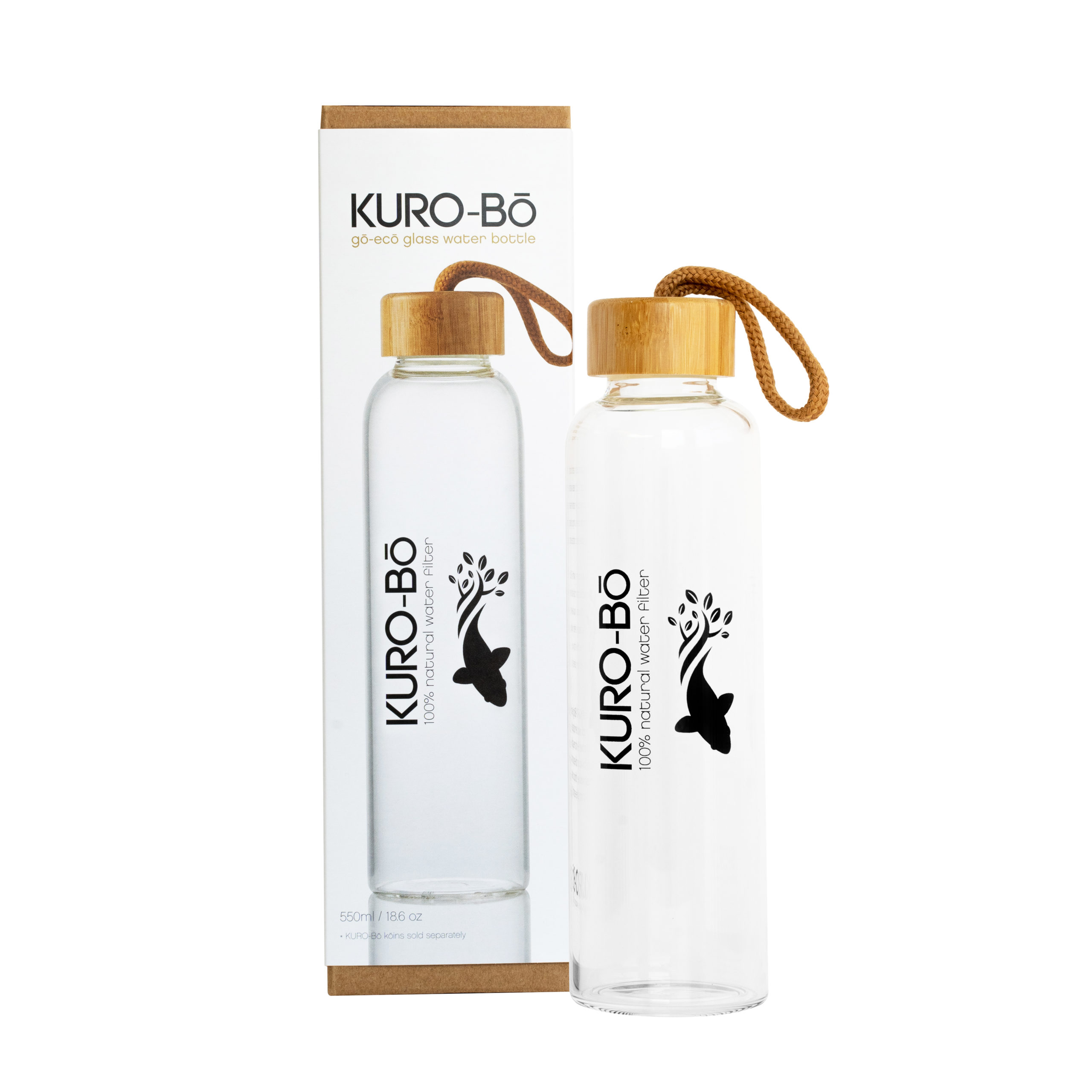 kuro bo go eco glass water bottle 550 ml kuro bō kuro bō gō ecō glass water bottle 550ml